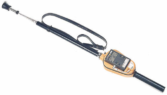 Automess Teletector ADT telescoping probe with 6150 AD-5 ratemeter