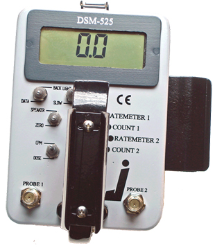 DSM-525 Dual Probe Digital Survey Meter by WB Johnson